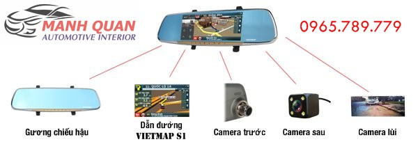 Camera Hành Trình Gương VietMap G68