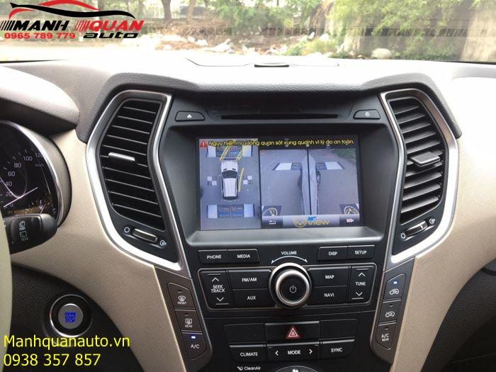 Báo Giá Hệ Thống Camera 360 Độ Oview Cho Hyundai Santafe|0965789779