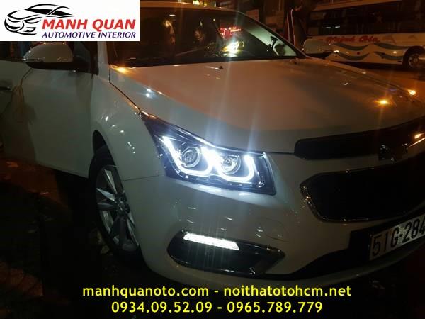 Bộ Đèn Pha Mẫu BMW Cho Chevrolet Cruze   Manhquanoto