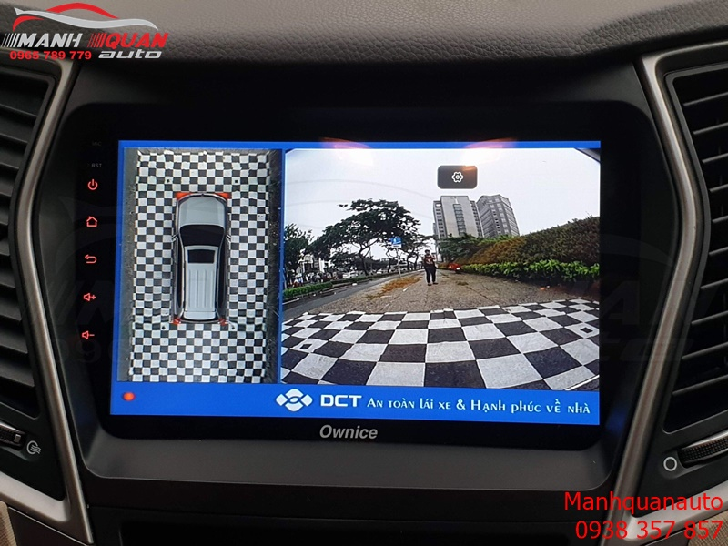 Camera 360 DCT Cho Hyundai SantaFe Bản T1 Mắt Sont Sắc Nét