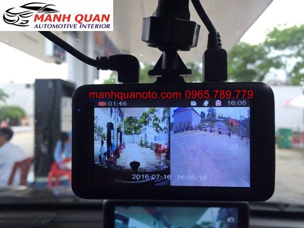 Camera Hành Trình Vicom DVR 820 Ghi Hình Trước Và Sau Xe Isuzu D-Max