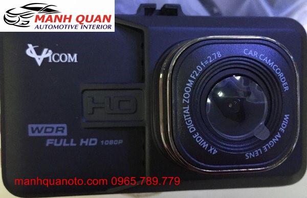 Camera Hành Trình Vicom DVR 820 Ghi Hình Trước Và Sau Xe Nissan Teana