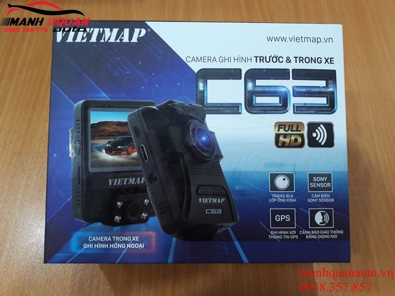 Camera Hành Trình Vietmap C63 - Cảnh Báo Giao Thông, Ghi Hình Trước & Trong Xe