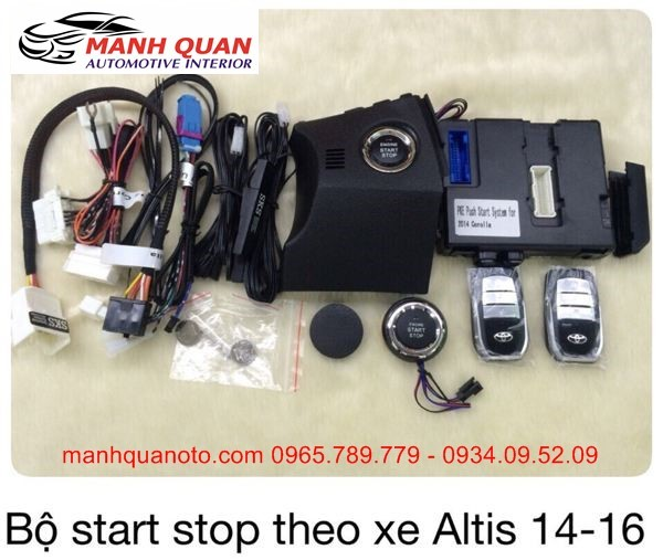 Chìa Khóa Thông Minh Start Stop Smart Key Cho Toyota Altis 2014 - 2016