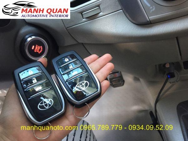 Chìa Khóa Thông Minh Start Stop Smart Key Cho Toyota Fortuner 2014 - 2016