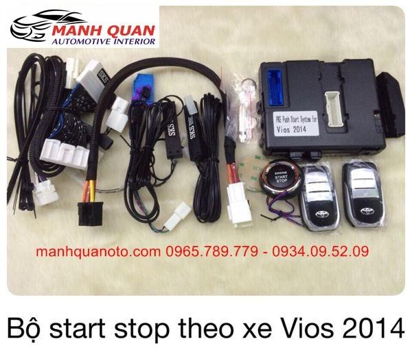 Chìa Khóa Thông Minh Start Stop Smart Key Cho Toyota Vios 2014 - 2016