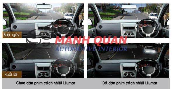 Dán Phim Cách Nhiệt Llumar Cho Hyundai Santafe