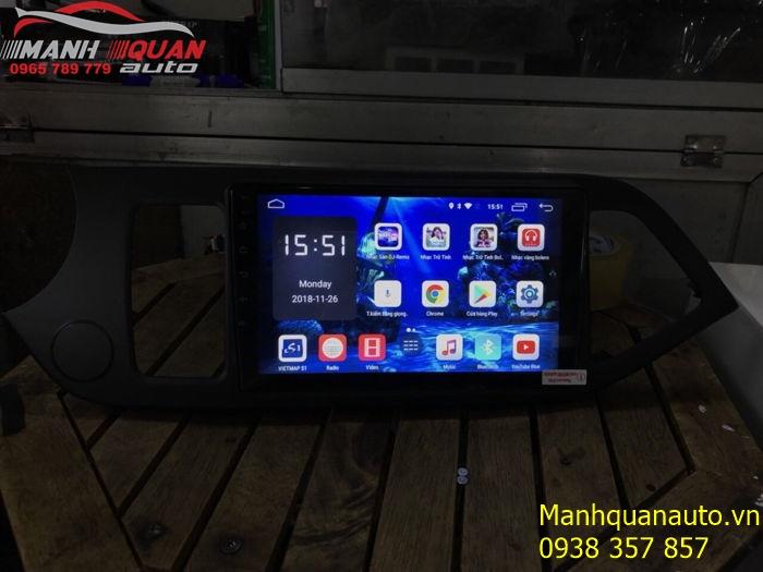 Đầu DVD Android Cao Cấp Cắm Jack Zin Cho Kia Morning | Mạnh Quân Auto
