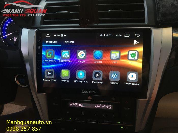 DVD Công Nghệ Nhật Bản - Zestech Android Cắm Sim 4G LTE Cho Camry