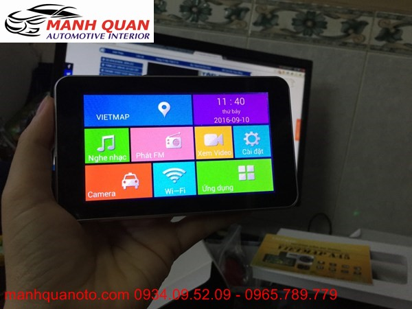 Gắn Camera Hành Trình VietMap A45 Ghi Hình Trước Sau Cho Peugoet RCZ