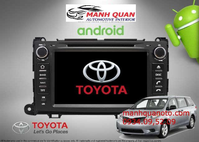 Gắn Màn Hình DVD Theo Xe Toyota Sienna