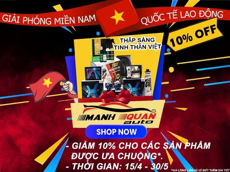 Giảm 10% dịch vụ PHỦ CERAMIC cho xe ô tô nhân dịp 30/4 – 1/5