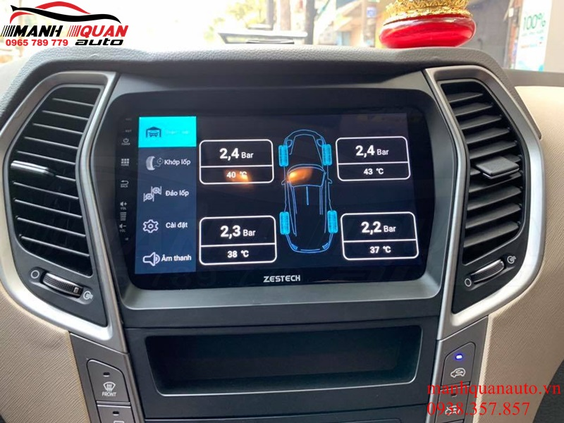 Lắp Cảm Biến Áp Suất Lốp Hiển Thị Lên Màn Hình Android Ô Tô iCar TN601