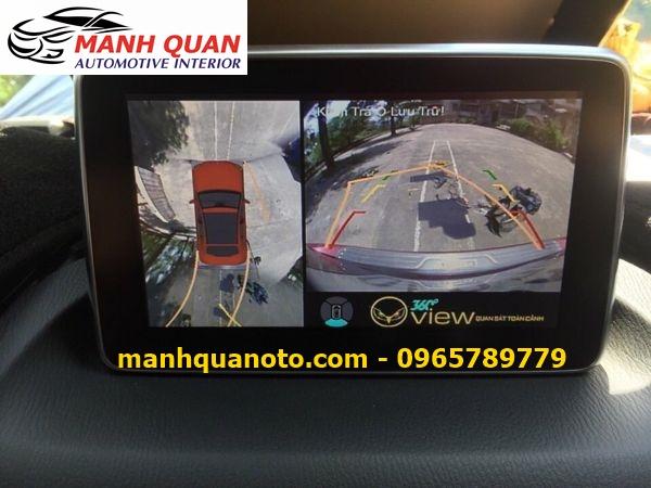 Lắp Camera 360 Độ Cho Mazda BT50 | Camera 360 Oview Hàn Quốc
