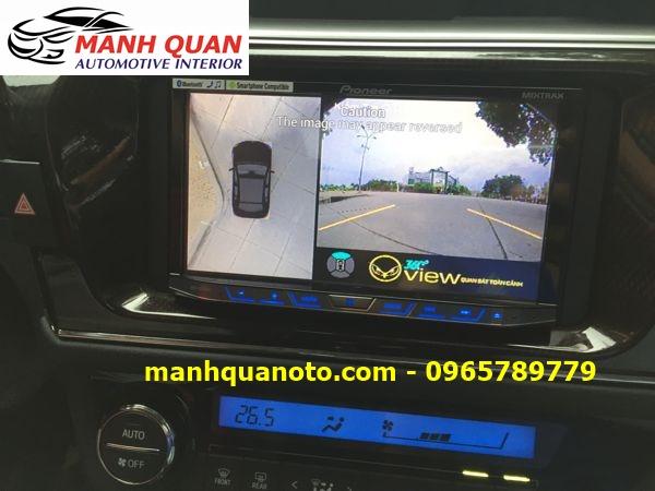 Lắp Camera 360 Độ Cho Pajero Sport | Camera 360 Oview Hàn Quốc
