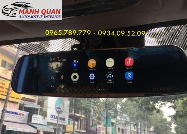 Lắp Camera Hành Trình Gương VietMap G68 Cho Suzuki Ertiga