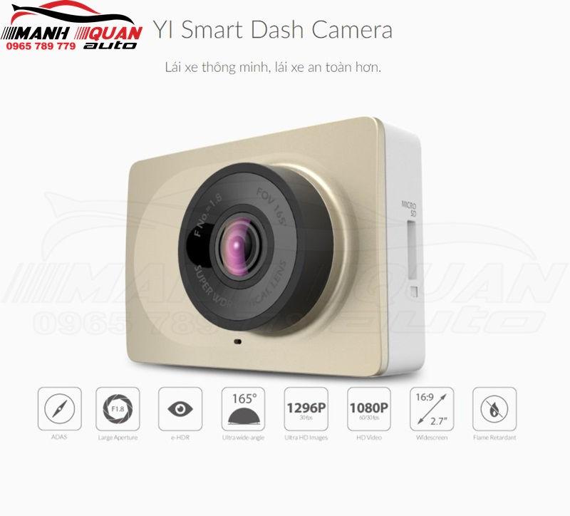 Lắp Camera Hành Trình Xiaomi Yi Car 2 DVR Full HD 1296P