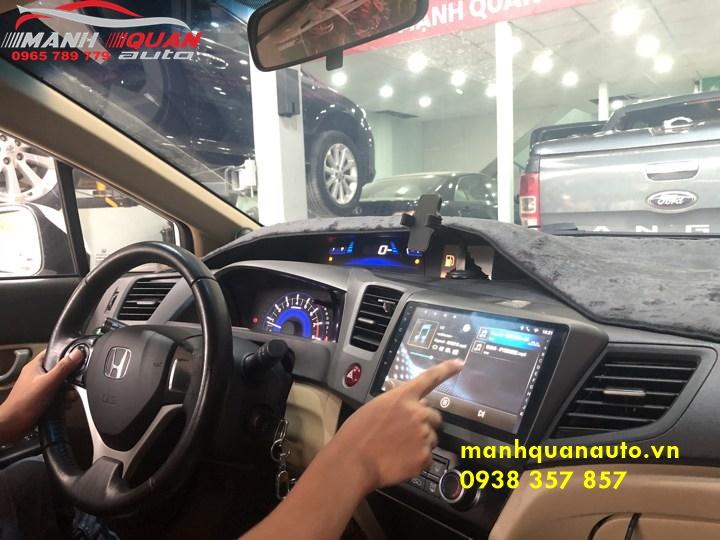 Lắp Đặt Đầu DVD Android Theo Xe Honda Civic 2012 Tại Mạnh Quân Auto