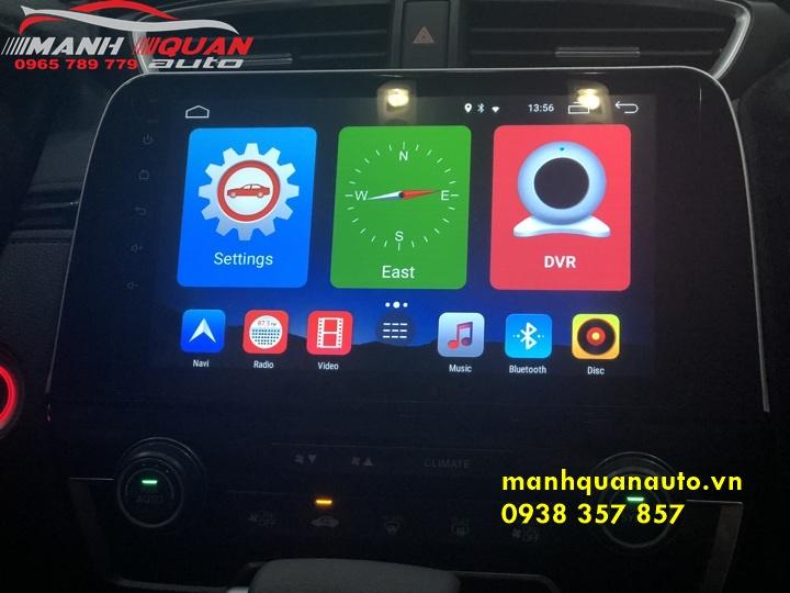 Lắp Đặt Màn Hình DVD Android Cao Cấp Uy Tín Cho Honda CRV   0965789779