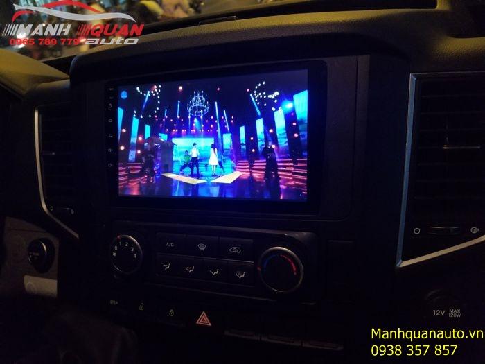 Lắp Đặt Màn Hình DVD Android Giá Rẻ Cho Hyundai Solati 16 Chỗ