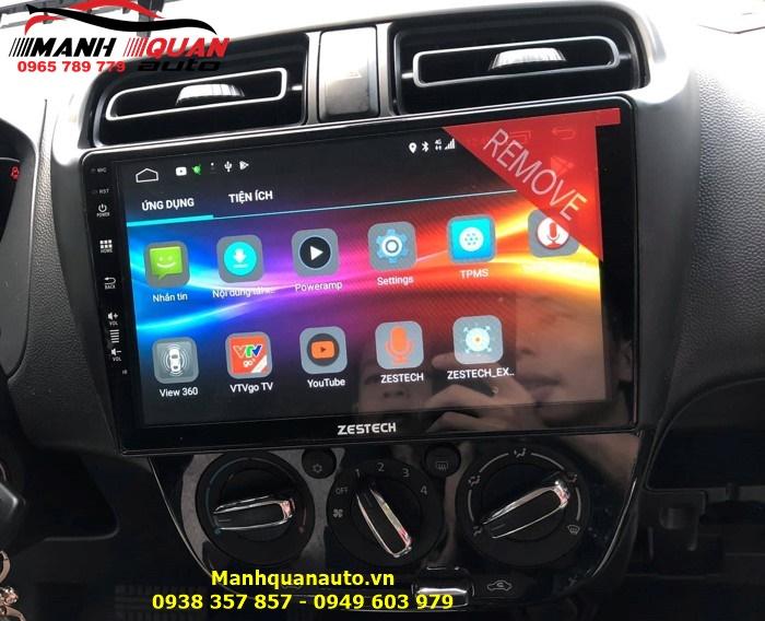 Lắp Đầu DVD Android Cắm Sim 4G Theo Xe Mitsubishi Attrage - Zestech