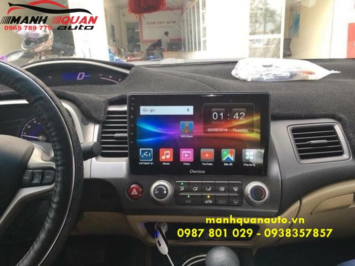 Lắp Đầu DVD Ownice c500+ Cao Cấp Nhất Cho Honda Civic 2009