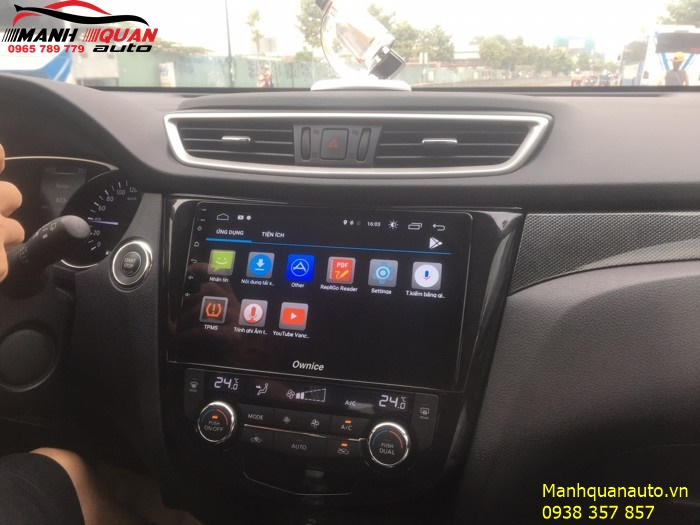Lắp DVD Cao Cấp Chạy Hệ Android Cho Nissan X-Trail - Ownice C500+