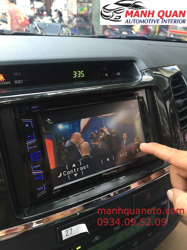 Lắp Màn Hinh DVD Theo Xe Toyota Fortuner 2015 Tại Hcm