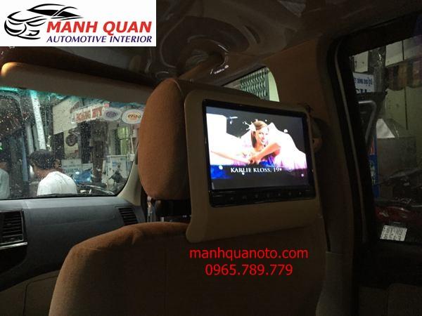 Lắp Màn Hình Gối Đầu Cao Cấp Cho Xe Nissan Navara