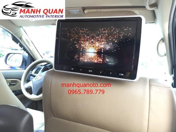Lắp Màn Hình Gối Đầu Cao Cấp Cho Xe Nissan Urvan