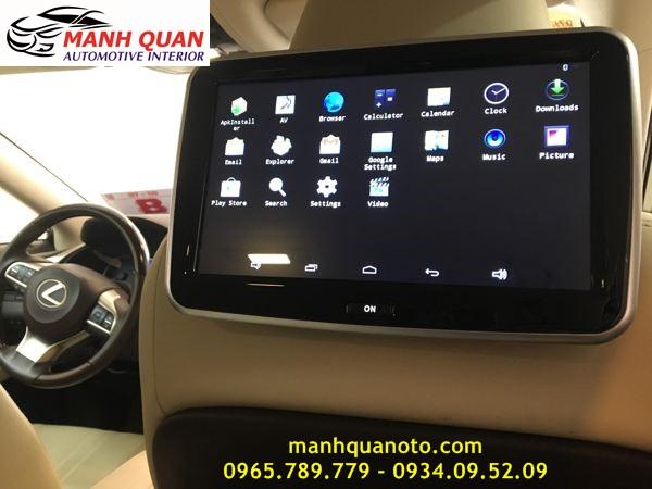 Lắp Màn Hình Gối Tựa Đầu Android Cho Xe  Land Cruiser Prado Tại Tp hcm