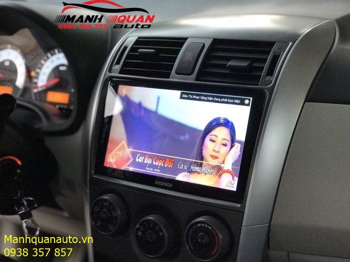 Màn Hình Android Cao Cấp Công Nghệ Nhật - DVD Zestech Cho Toyota Altis