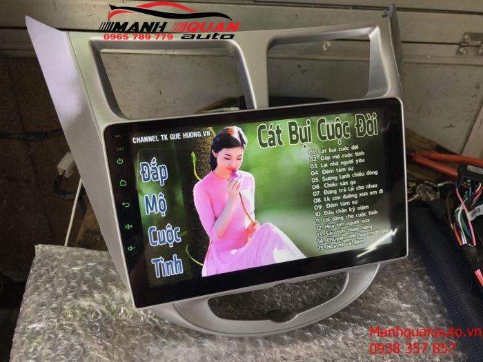 Màn Hình DVD Android Cắm Sim 4G Theo Xe Hyundai Accent 2011-2017