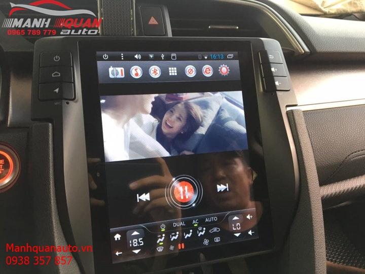Màn Hình DVD Android Kiểu Tesla 12.1 inch Cho Xe Honda Civic | 0965789779