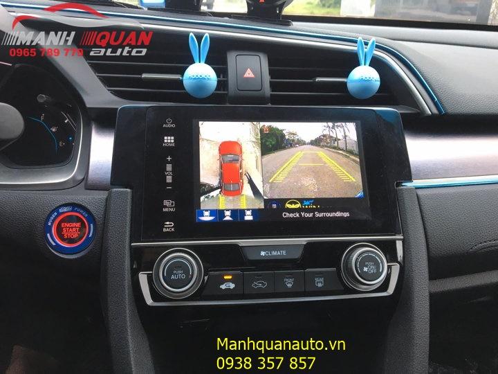 Nên Lắp Camera 360 Độ Owin 2D Cho Honda Civic Ở Đâu?