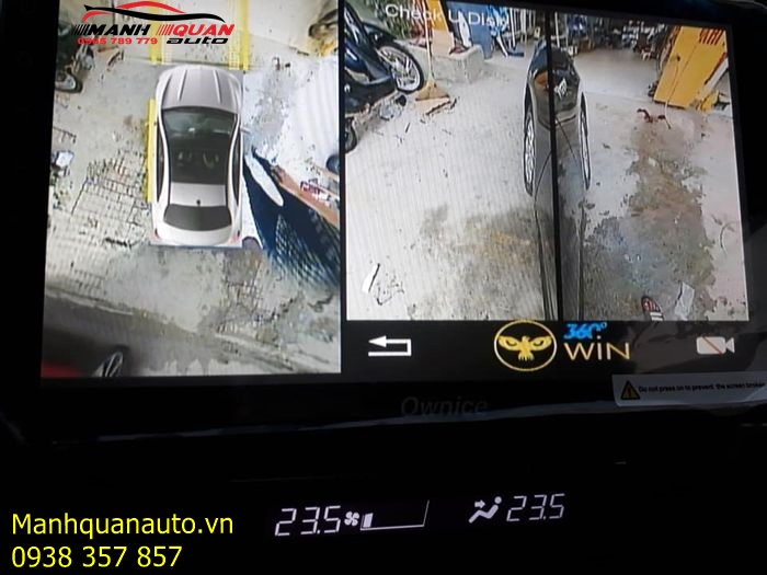 Phân Phối và Lắp Đặt Camera 360 Độ Owin Cho Toyota Camry | 0965789779