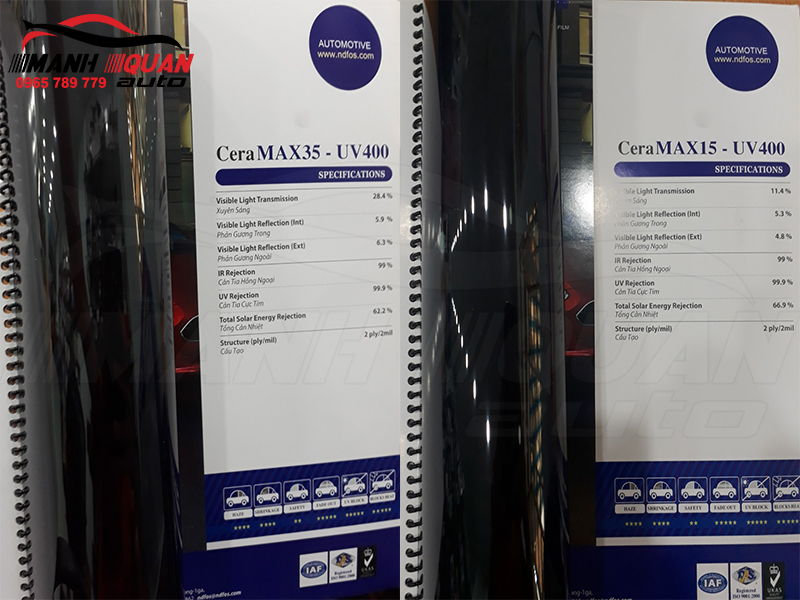 Phim Siêu Cách Nhiệt CeraMAX-UV400 Chống Tia UV 100% Bảo Vệ Tối Đa
